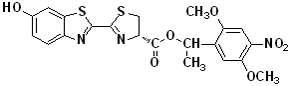 DMNPE-caged luciferin  [D-Luciferin, 1-(4,5-dimethoxy-2-nitrophenyl)ethyl ester]